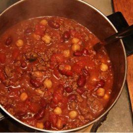 Homemade Local Sandy Mush Beef Chili Meal