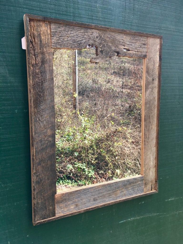 Handcrafted Red Oak Barn Wood Mirror