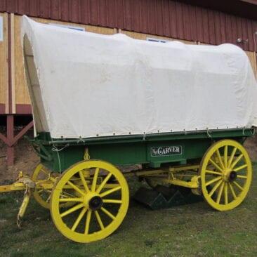 John Garrett's Carver Covered Wagon