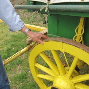 Wagon Wheel Repaired by Ike