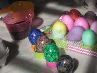 Egg dyeing with MLFP