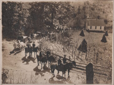 1907 Woody Funeral Procession at Jones Valley Baptist Church - Photo Courtesy of Neal Woody
